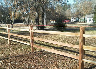 Cedar Split Rail Fence Near Lake Livingston Trinity